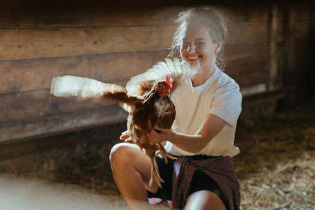 Enfants à la ferme, producteurs locaux, stage à la ferme, balade en roulotte à la ferme d'En Gout en Pays de Cocagne