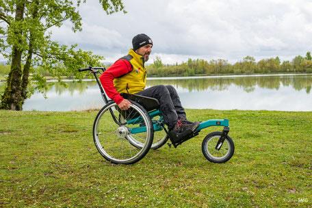 Crédit photo Fabien Sans, handisport, tourisme handicap, espace de loisirs les étangs Saix, Dicosa Saïx