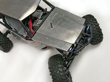Draufsicht: Maximaler Lenkeinschlag mit crawlster®4Wd