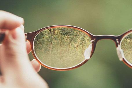 Blick durch die Brille