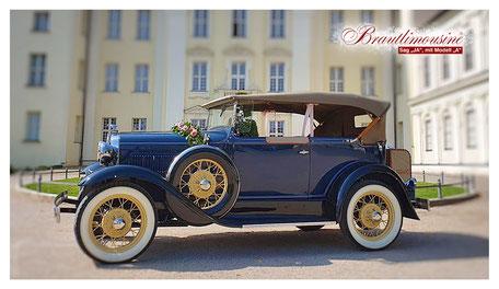 "Ford Model ""A"" Deluxe Phaeton, Cabriolet, dunkelblau"