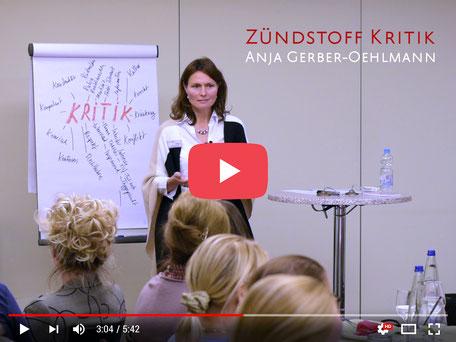 Video Zündstoff Kritik, Anja Gerber-Oehlmann, GO Ahead Consulting, Krisencoach, Verhandlungsexpertin
