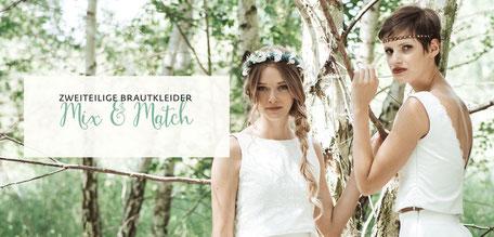 Brautkleid Zweiteiler Mix & Match Brautkollektion