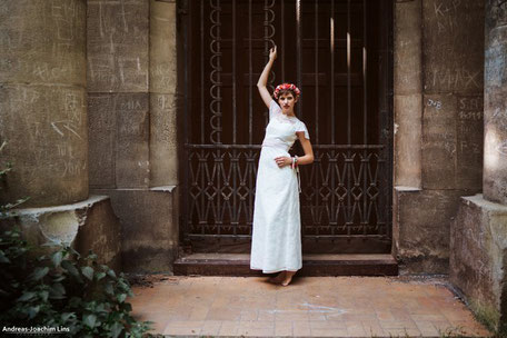 "Vintage Brautkleid mit Spitze ""Nova"""