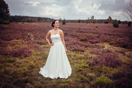 Brautkleid Zweiteiler aus Baumwolle mit Corsage und Tüllrock