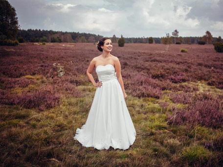 Brautkleid Zweiteiler mit Corsage und Tüllrock