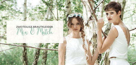Brautkleid Zweiteiler Mix & Match Brautkollektion