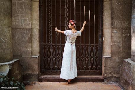 Vintage Brautkleid mit Spitze