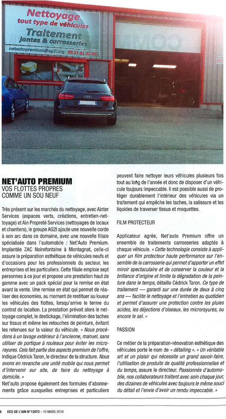 La presse parle de Netauto Premium Bourg-en-Bresse et Montagnat