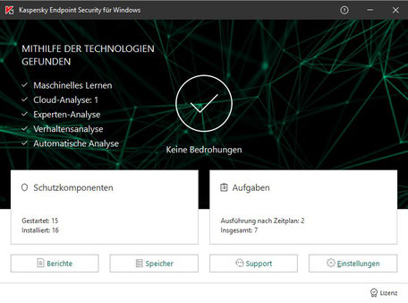 Kaspersky Endpoint Security 11 Programmhauptfenster