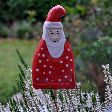 Nikolausstecker aus frostsicherer Keramik