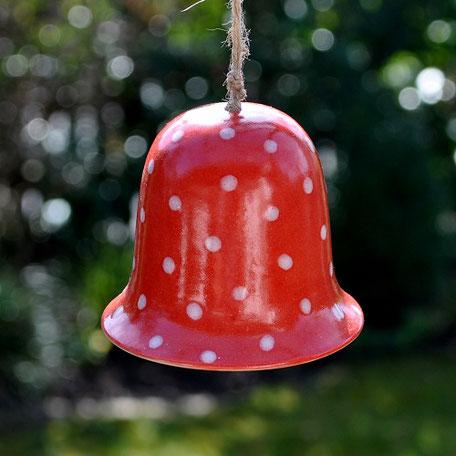 Keramik Glocke Gartendeko