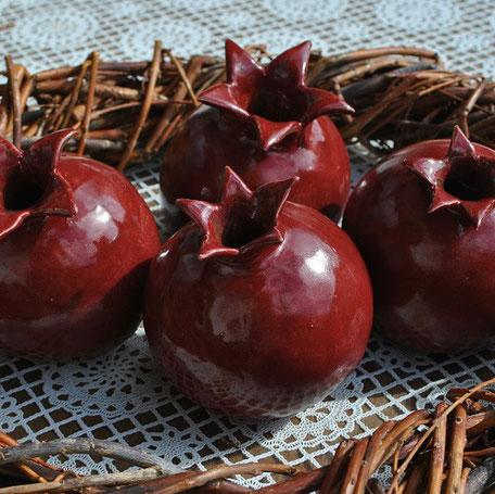 Gartenkeramik Granatapfel