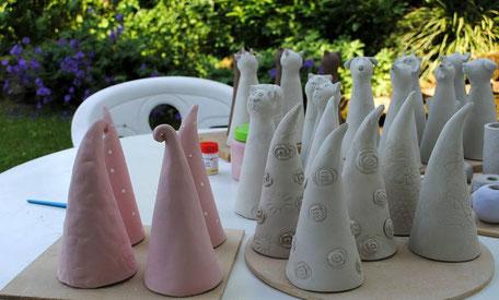 Glasieren im Garten