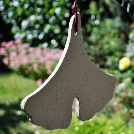 Ginko Ginkgo Keramik Blatt Geschenkidee