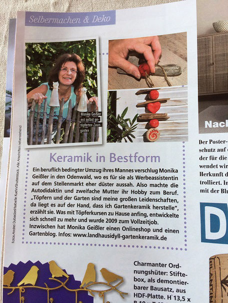 Keramik in Bestform - Monika Geißler in der Presse