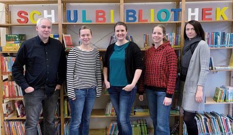 Büchereiteam 2020 - Herr Hanken, Frau Oltmann, Frau Schütz, Frau Kohlhoff & Frau Meemken