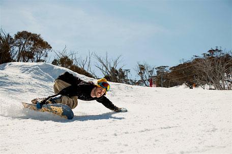 Snowboardkurs Kinde beim Carven in Söll wilder Kaiser