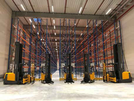 VS Logistics Warehousing Dettelbach, Gefahrstofflager / Gefahrgutlager Halle innen