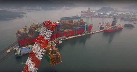 Shell Prelude FLNG Offshore Vessel