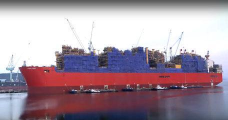 Shell`s Prelude in der Schiffswerft Samsung Heavy Industries Korea