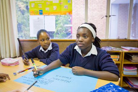 Noluntando, ein Mädchen aus dem Township Soweto