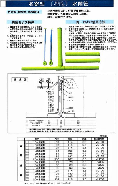 北海道で、一番売れている水位調整が出来なおかつ収納式水閘を写真付きでご紹介しております。