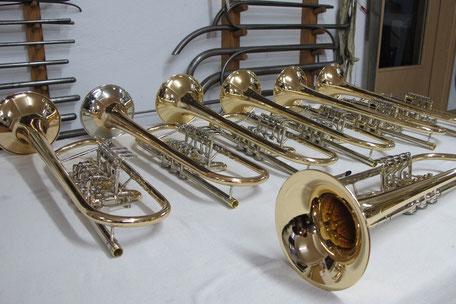 Instrumente aus der Blechbläserwerkstatt Karl Scherzer