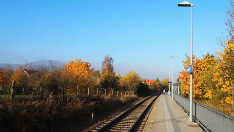 Bahnhaltepunkt Darlingerode, vielgenutzt von Berufspendlern und Urlaubern