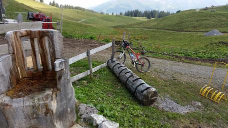 Alpe Raaz, normalerweise ein beliebtes Radlerziel... jedoch nicht heute...