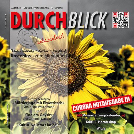 DURCHBLICK - Ausgabe 94 - September + Oktober 2020