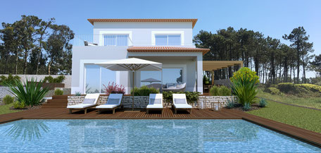 Each villa has its own architecture, the style is typical portuguese.