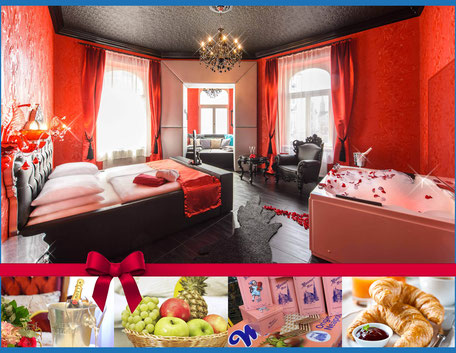 Hotel Urania Champagner Wien Obstkorb Manner Romantik Whirlpool