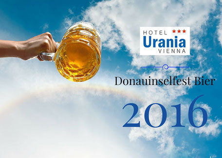 Das offizielle Bier beim Donauinselfest 2016 von Ottakringer. Inselbier. Präsentation. Donauinsel. Günstige Hotel.  www.hotelurania.at