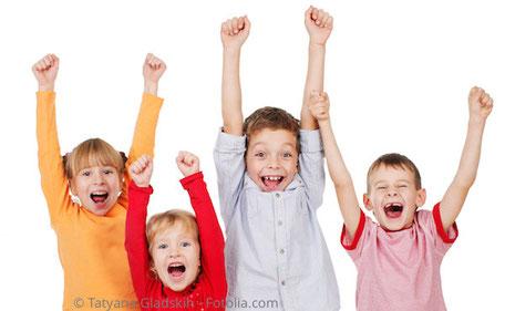 Wir belohnen Kinder für die gute Mitarbeit
