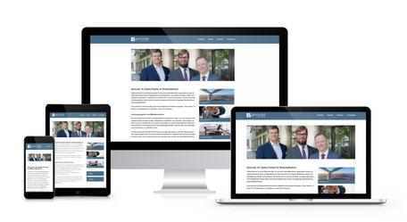 Responsiver Internetauftritt der Gronvald Rechtsanwälte