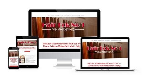 Responsiver Internetauftritt von Daniela Kanitz mit ihrem Friseursalon HairEck No.1 in Leipzig