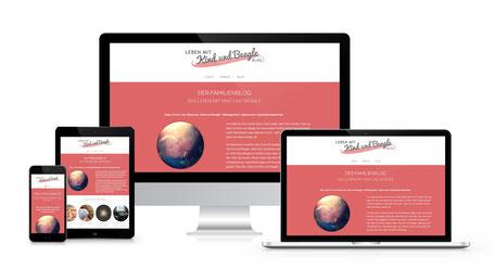 Responsiver Internetauftritt von lebenmitkindundbeagle - Dem Familien-Blog (Erstellt mit WordPress)