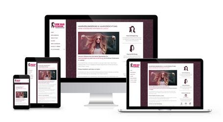 Responsiver Internetauftritt für die HairDreams Partnerin aus Leipzig
