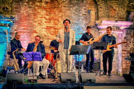 F&PG durante il concerto al Salone Nautico di Venezia