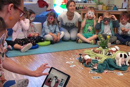 Olgas Hosentaschengeschichten im Kindergarten © Verein Kule