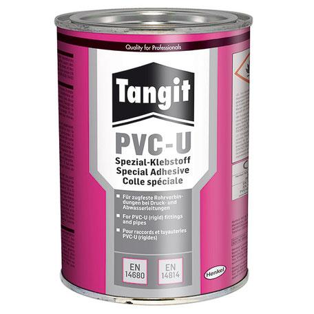 Tangit PVC-U Spezialklebstoff Der Tangit PVC-U Spezialkleber ist ein Rohrklebstoff zum Verkleben von thermoplastischen Druckrohrleitungssystemen aus Hart-PVC (PVC-U).
