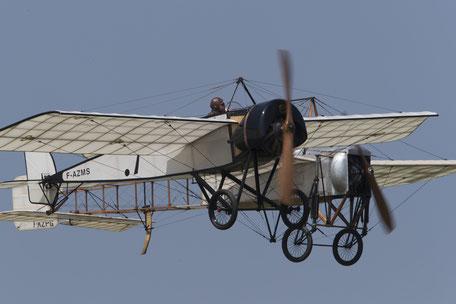 Patrouille d'un Morane H et d'un Blériot XI