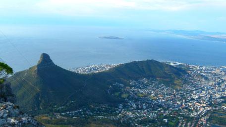 Blick vom Tafelberg in Kapstadt mit african top tours