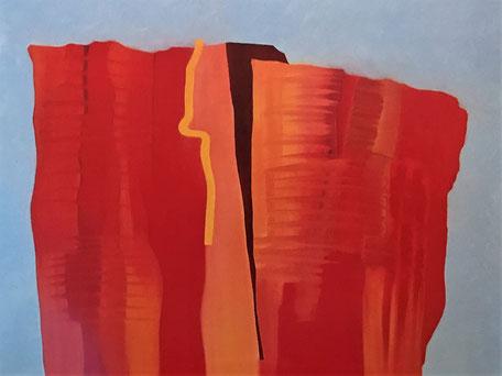 Alpine Aspekte - Roter Berg, Öl auf Leinwand