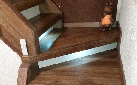Treppenrenovierung mit Vinylstufen