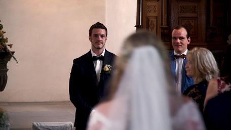 Hochzeitsvideo Szene - Der erste Blick