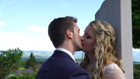 Hochzeitsvideo Szene - der Kuss