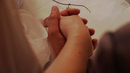 Verheiratete Hände