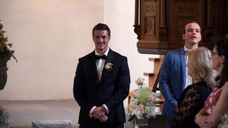 Hochzeitsvideo Szene bevor die Braut kommt